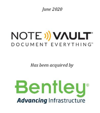 Note Vault has been acquired by Bentley